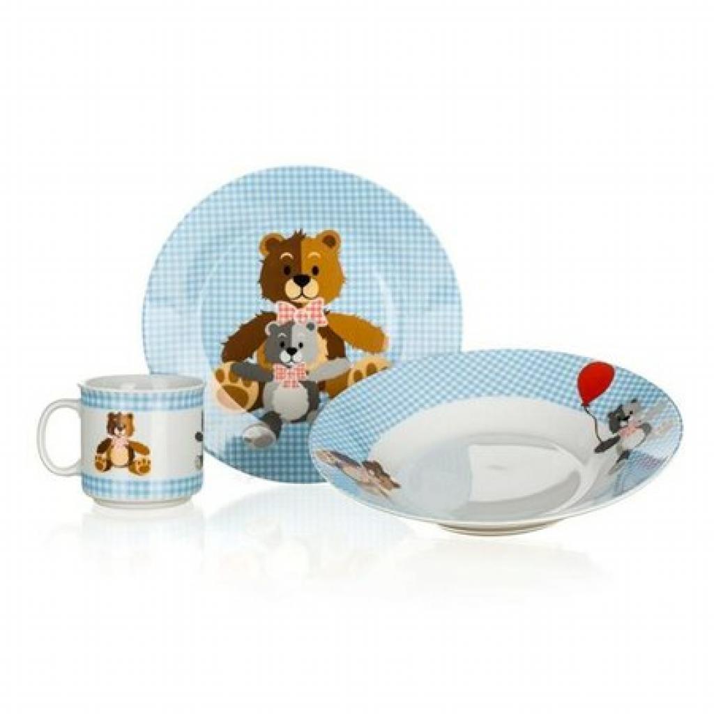 Produktové foto BANQUET Dětská jídelní sada MEDVÍDCI, 3 ks, modrá 60TB002-B