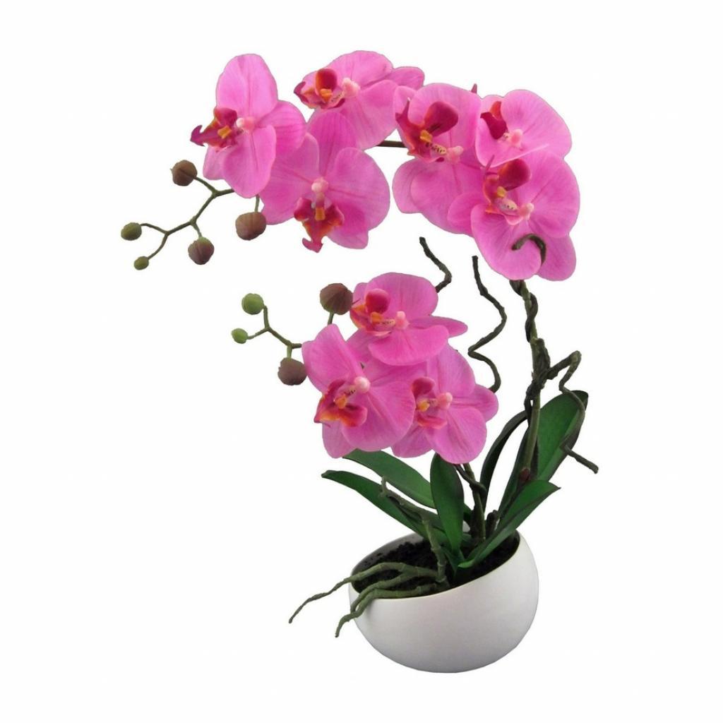 Produktové foto Umělá Orchidej v květináči růžová, 42 cm 115812-80