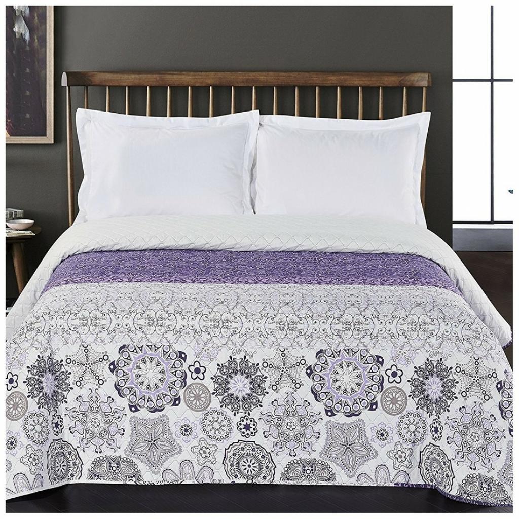 Produktové foto DecoKing Přehoz na postel Alhambra fialová, 220 x 240 cm
