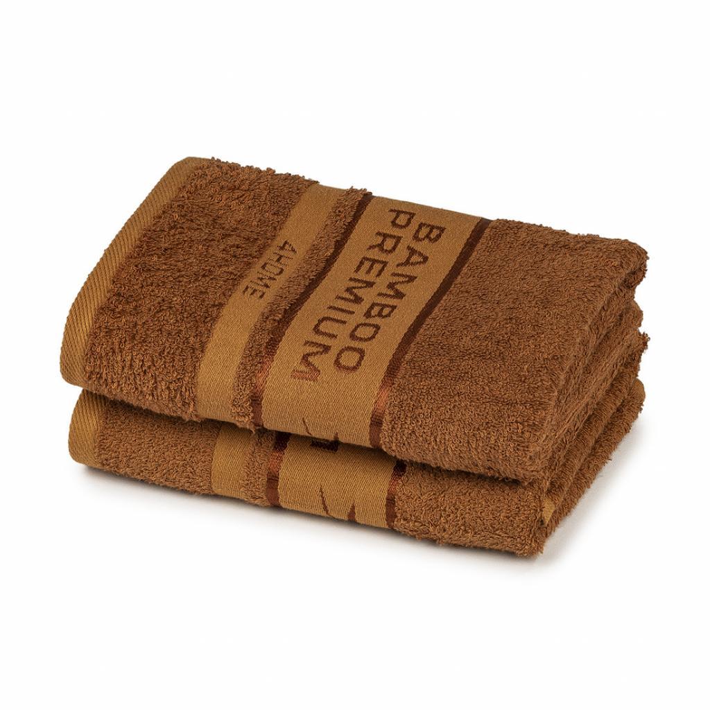 Produktové foto 4Home Bamboo Premium ručník hnědá, 50 x 100 cm, sada 2 ks