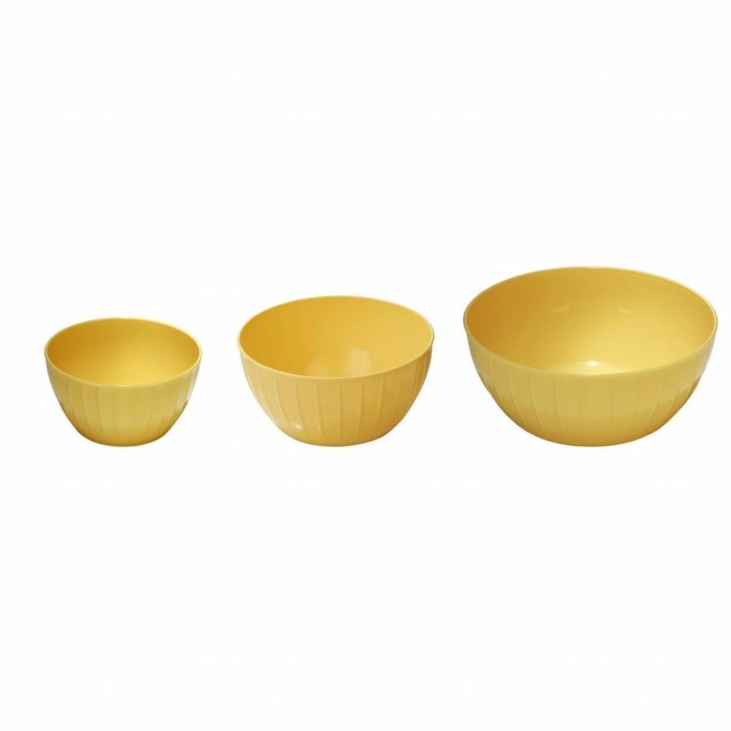 Produktové foto Tescoma Misky plastové DELÍCIA, sada 3 ks, žlutá