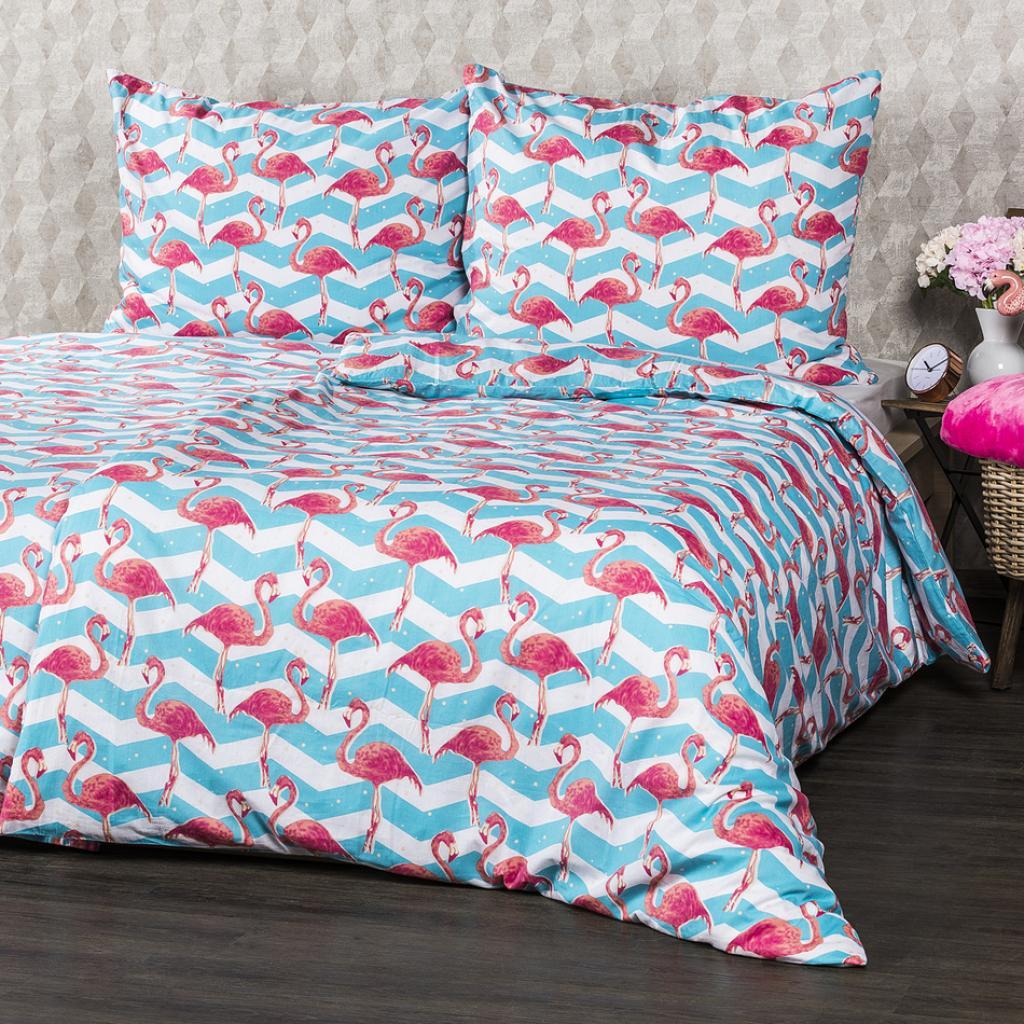 Produktové foto 4Home Bavlněné povlečení Flamingo, 220 x 200 cm, 2 ks 70 x 90 cm, 220 x 200 cm, 2 ks 70 x 90 cm