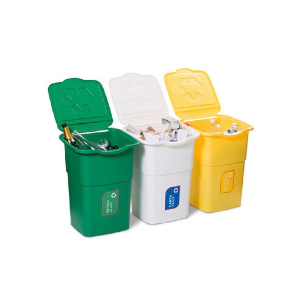 Produktové foto Koš na tříděný odpad Eco 3 Master 50 l, 3 ks