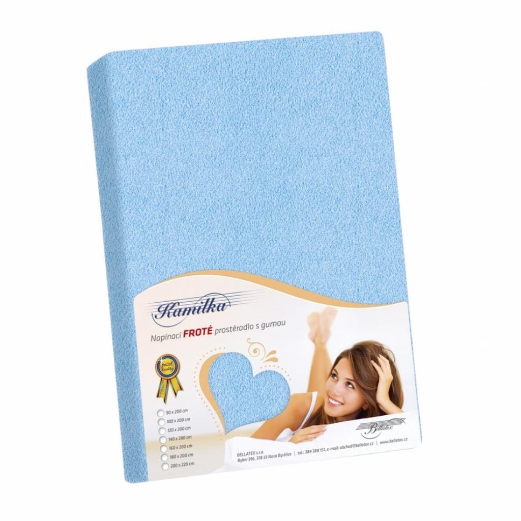 Produktové foto Bellatex Froté prostěradlo Kamilka světle modrá, 100 x 200 cm