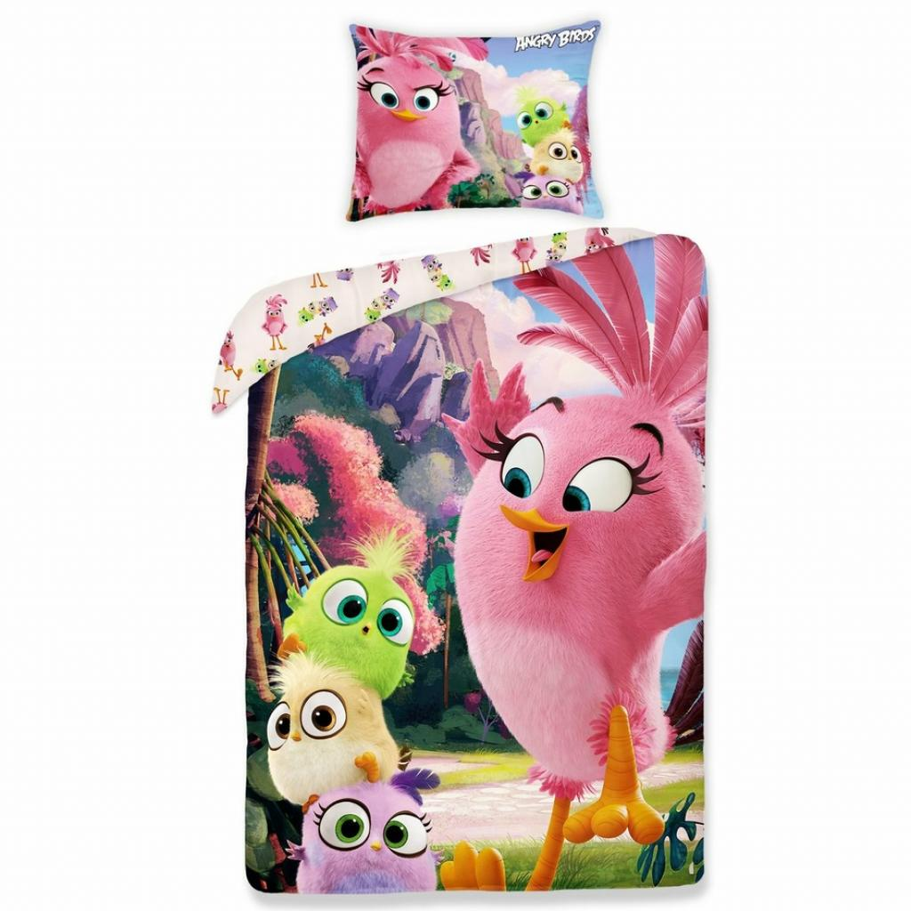 Produktové foto Halantex Dětské bavlněné povlečení Angry Birds movie 1155, 140 x 200 cm, 70 x 90 cm