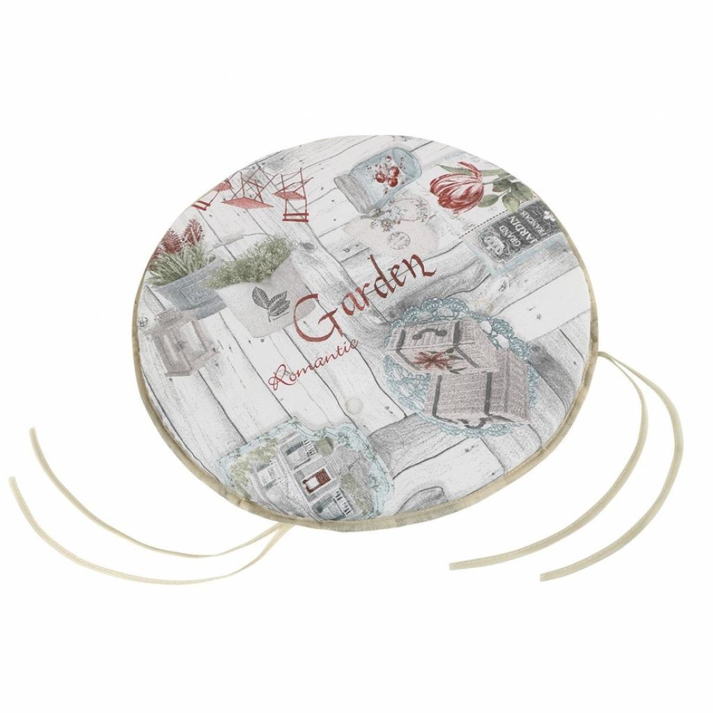 Produktové foto Bellatex Sedák EMA kulatý hladký Terasa, 40 cm