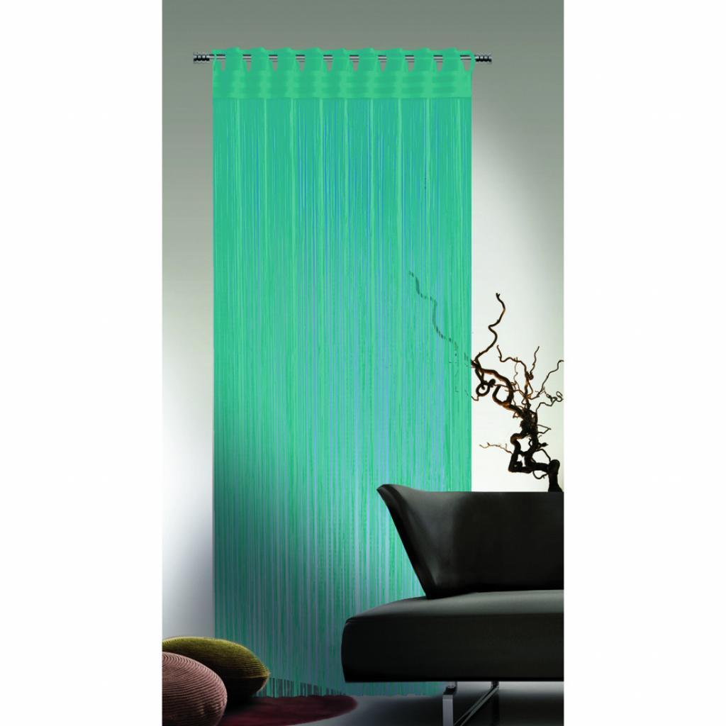 Produktové foto Albani Provázková záclona Cord tyrkysová, 90 x 245 cm