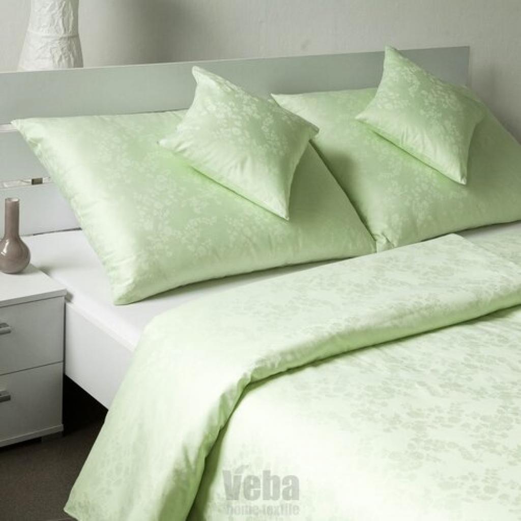 Produktové foto Veba Damaškové povlečení Bohema Svlačec zelená, 140 x 200 cm, 70 x 90 cm