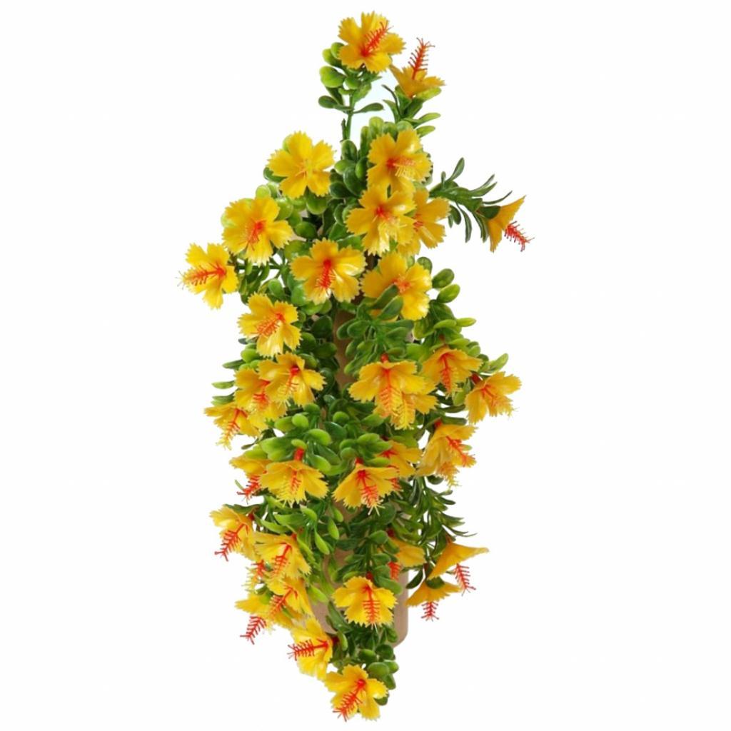 Produktové foto Umělá květina Ibišek oranžová, 40 cm