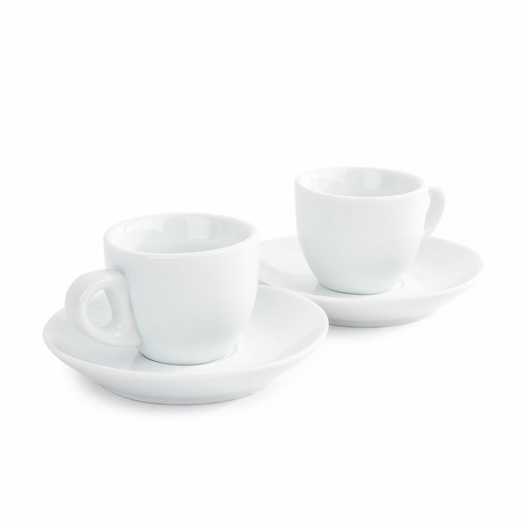 Produktové foto Domestic sada 2 šálků a 2 podšálků na Espresso, 80 ml