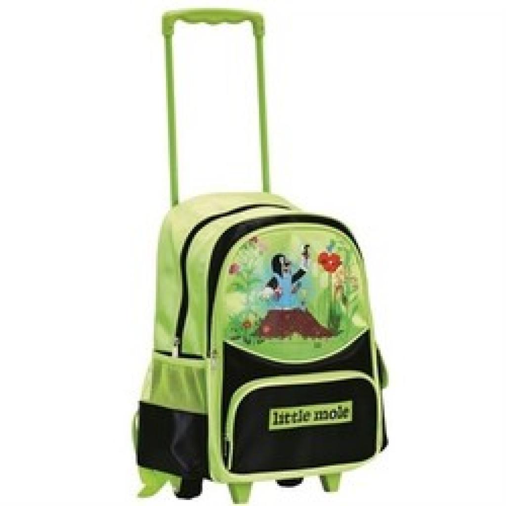 Produktové foto Bino Dětský batoh na kolečkách s Krtkem, zelená