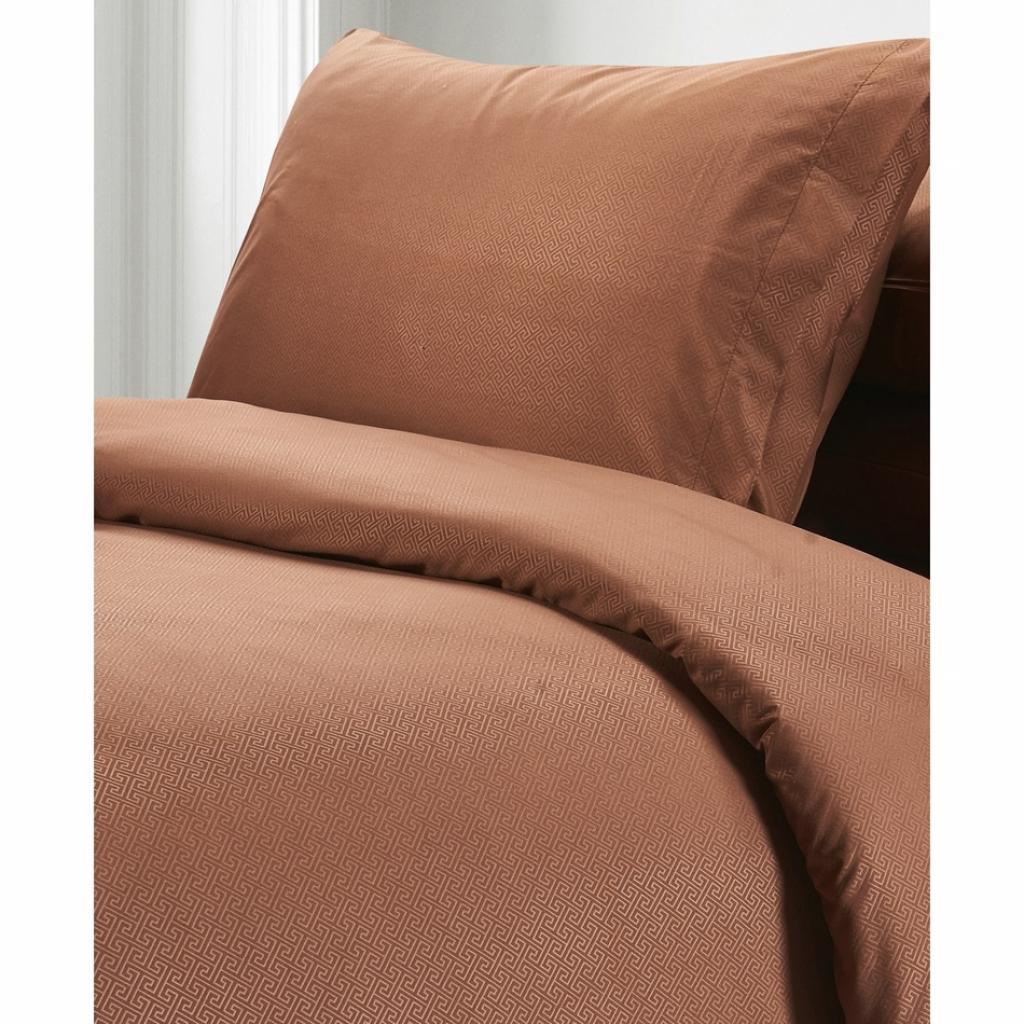 Produktové foto BO-MA Trading Povlečení Elisa, hnědá, 140 x 200 cm, 70 x 90 cm