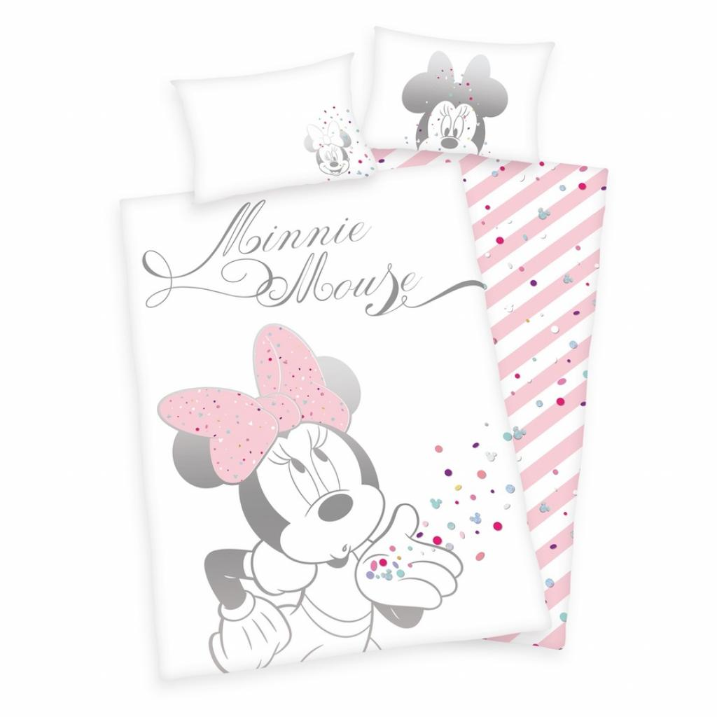 Produktové foto Herding Dětské bavlněné povlečení do postýlky Minnie Mouse, 100 x 135 cm, 40 x 60 cm