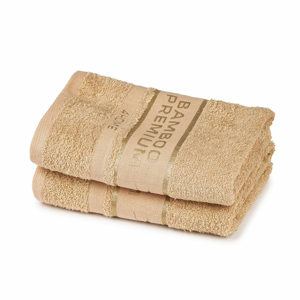 Produktové foto 4Home Bamboo Premium ručník béžová, 50 x 100 cm, sada 2 ks