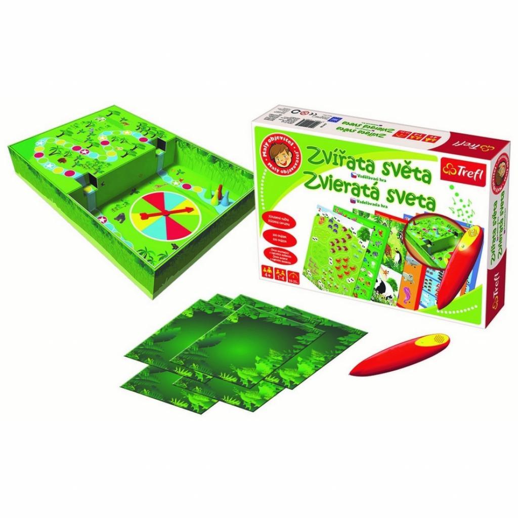 Produktové foto Trefl Malý objevitel Zvířata světa kouzelná tužka edukační v krabici