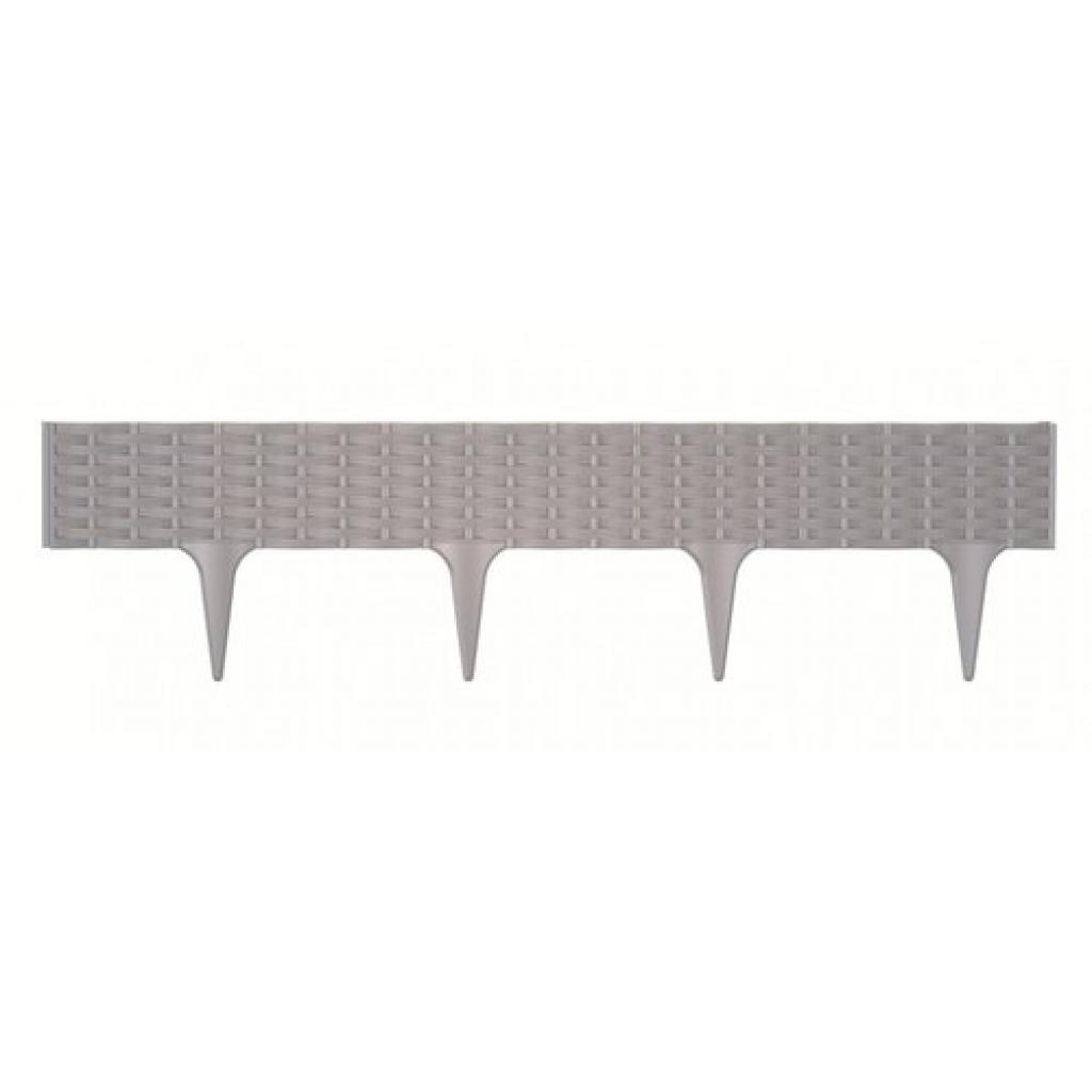 Produktové foto Prosperplast Travní lem Rattan šedá, 390 cm
