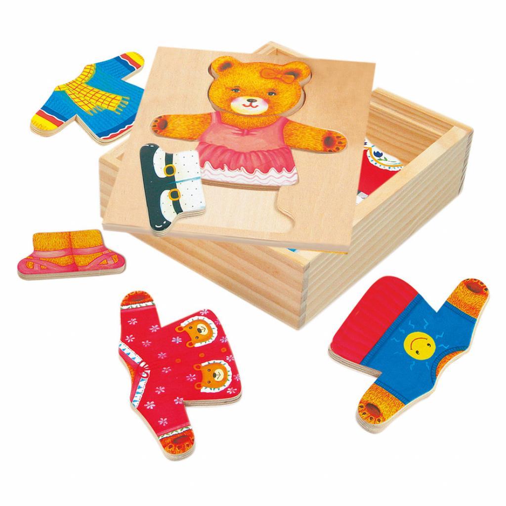 Produktové foto Bino Puzzle-šatní skříň-medvědice