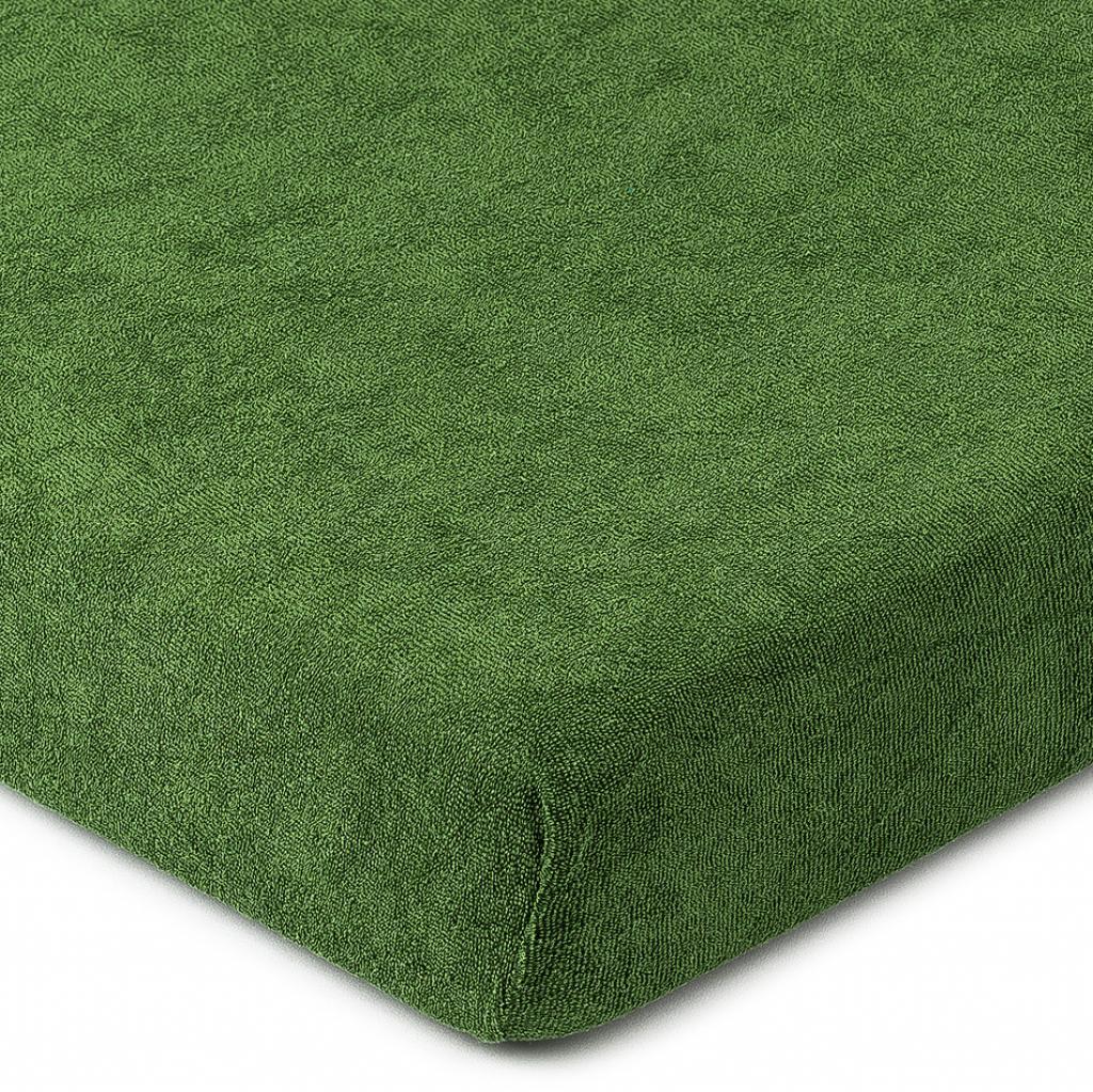 Produktové foto 4Home froté prostěradlo olivově zelená, 160 x 200 cm