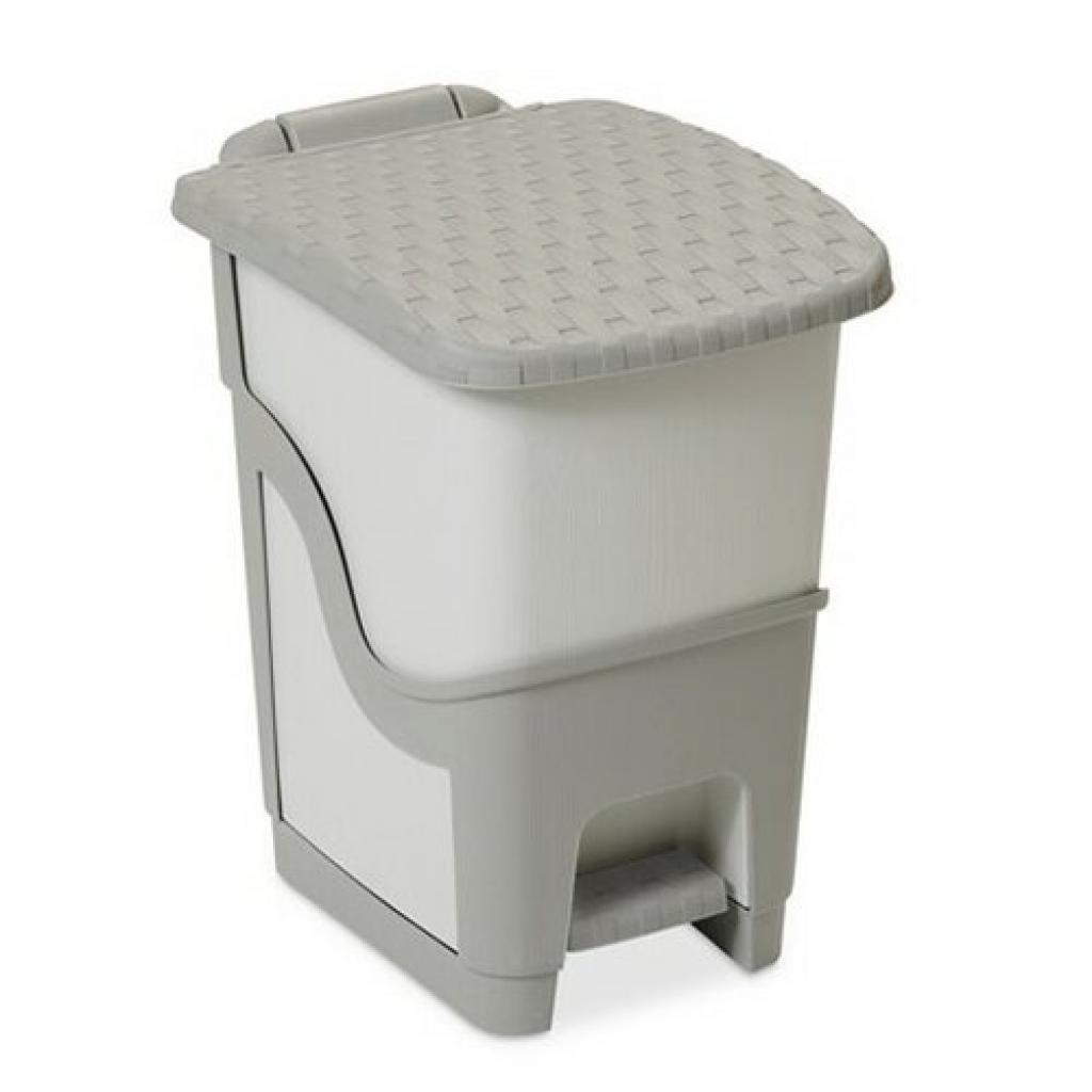 Produktové foto Ratanový odpadkový koš 18 l, šedá