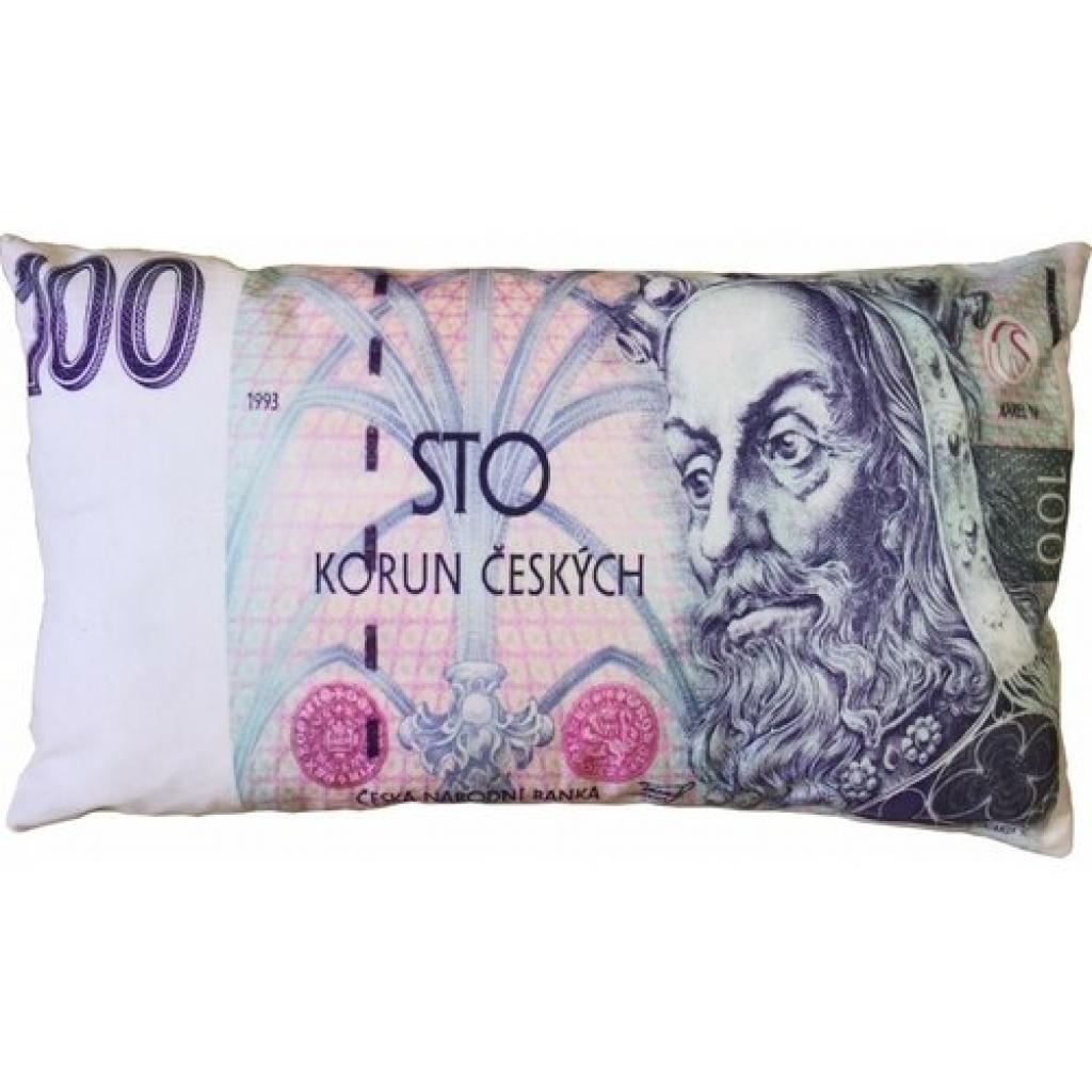 Produktové foto JAHU Polštářek Bankovka 100 Kč, 35 x 60 cm
