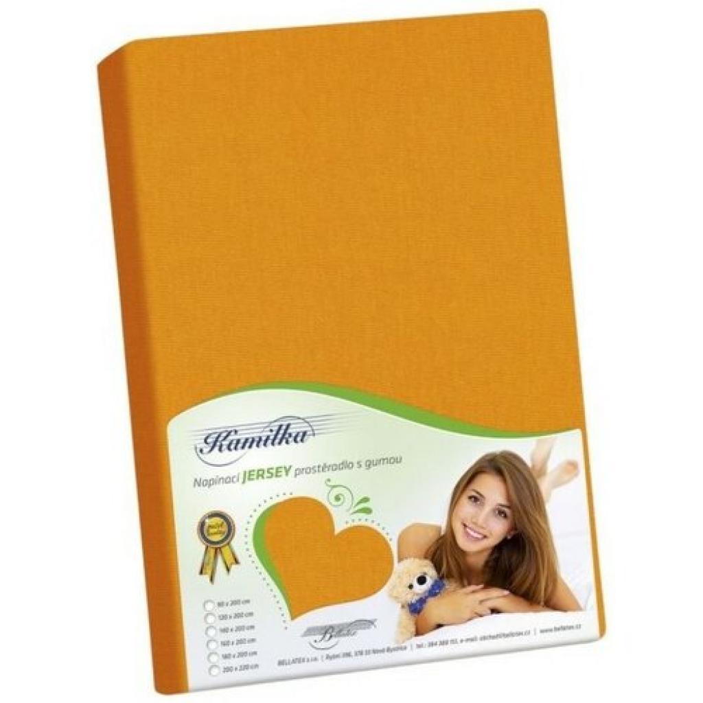 Produktové foto Bellatex jersey prostěradlo Kamilka oranžová, 90 x 200 cm