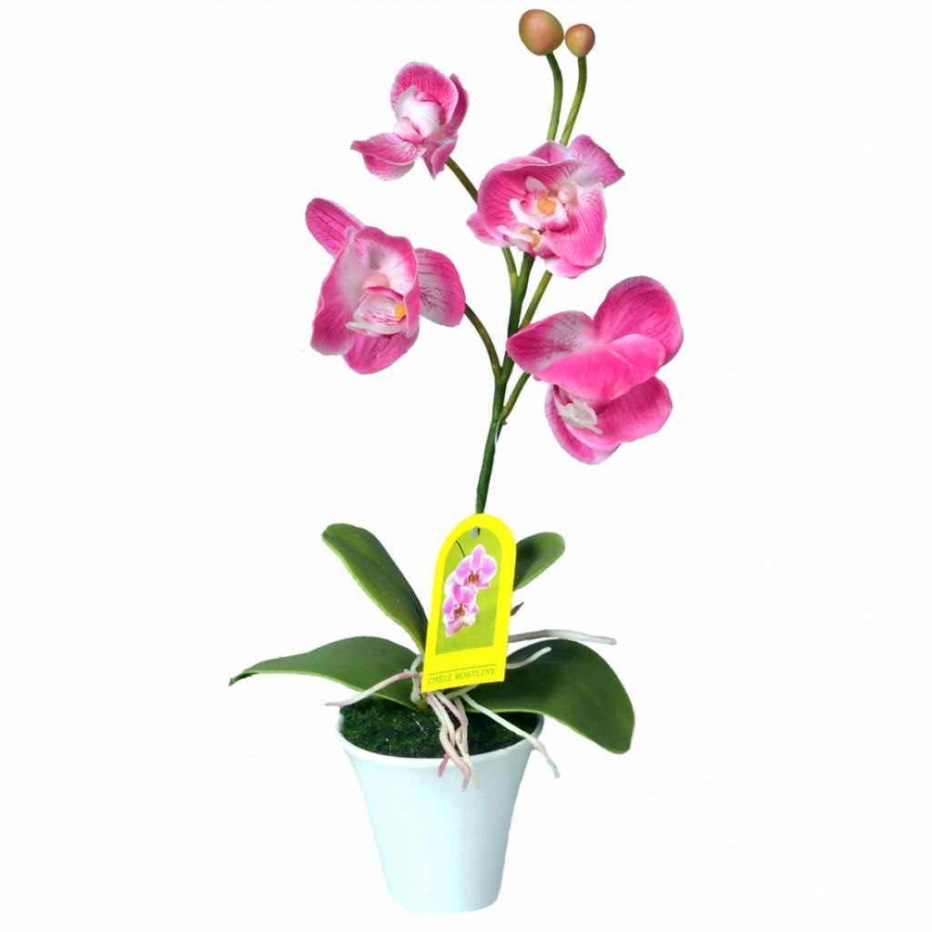 Produktové foto Umělá Orchidej v květináči růžová, 35 cm
