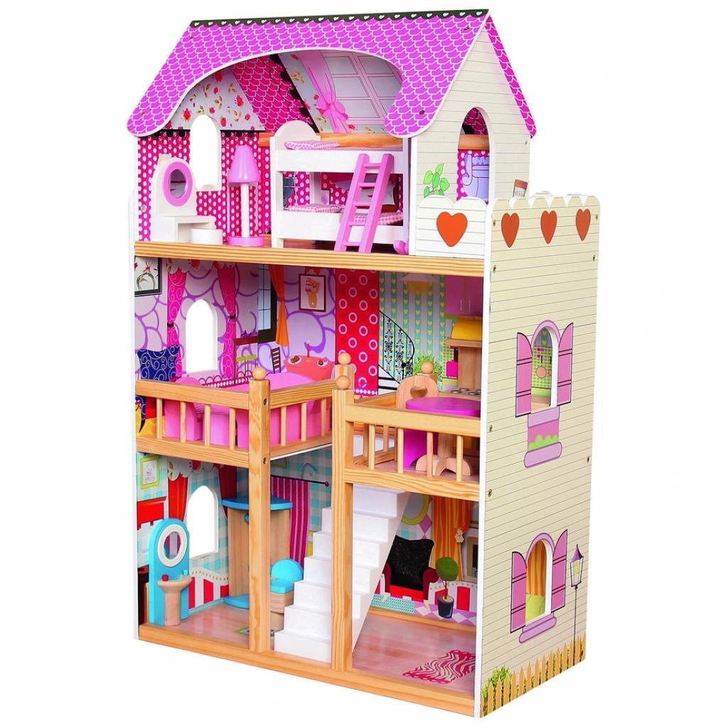 Produktové foto Bino Dětský dřevěný domeček s nábytkem
