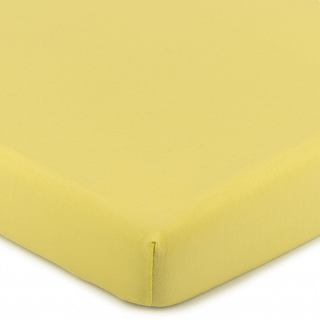 Produktové foto 4Home Jersey prostěradlo s elastanem žlutá, 180 x 200 cm