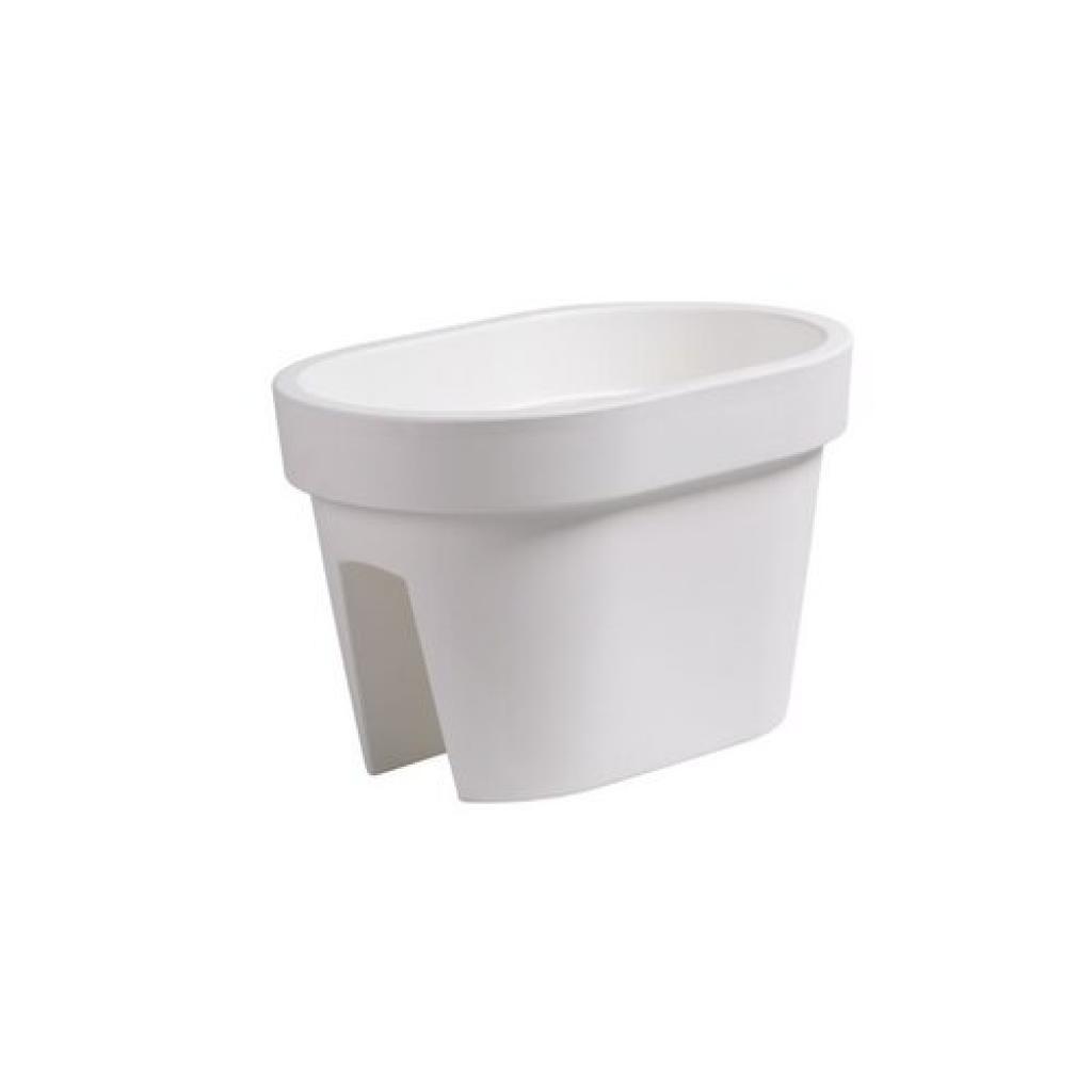 Produktové foto Prosperplast Truhlík na zábradlí Lofly Railing bílá, 40 cm, 40 cm