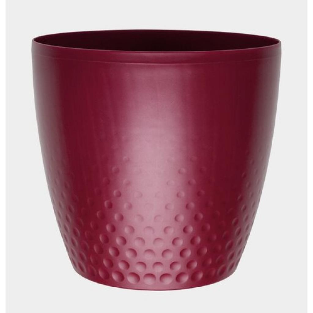 Produktové foto Plastový květináč Perla 16 cm, vínová, Plastia