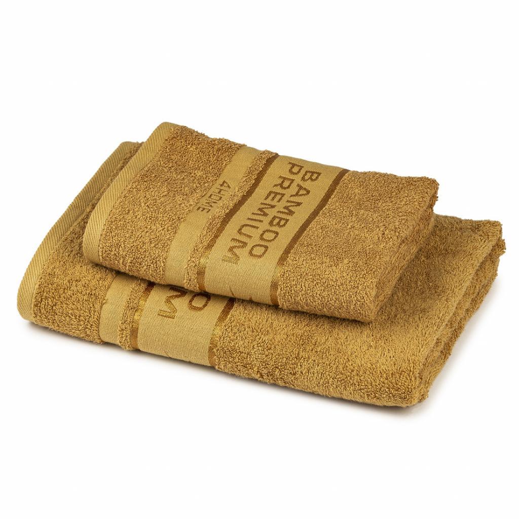 Produktové foto 4Home Sada Bamboo Premium osuška a ručník svetlo hnedá, 70 x 140 cm, 50 x 100 cm