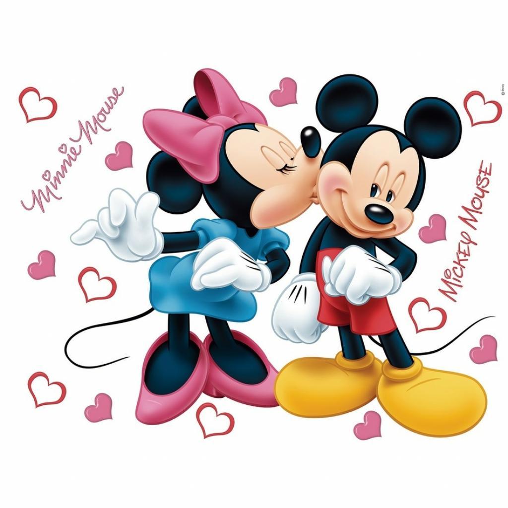 Produktové foto AG Art Samolepicí dekorace Minnie a Mickey, 42,5 x 65 cm