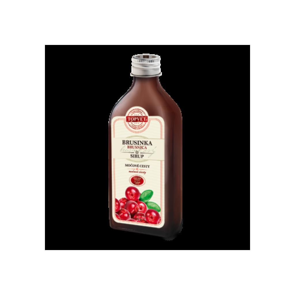 Produktové foto Topvet Farmářský Brusinkový sirup, 320 g
