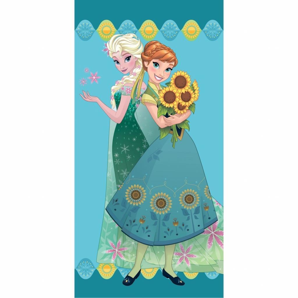 Produktové foto Jerry Fabrics Osuška Ledové království Frozen flower, 70 x 140 cm