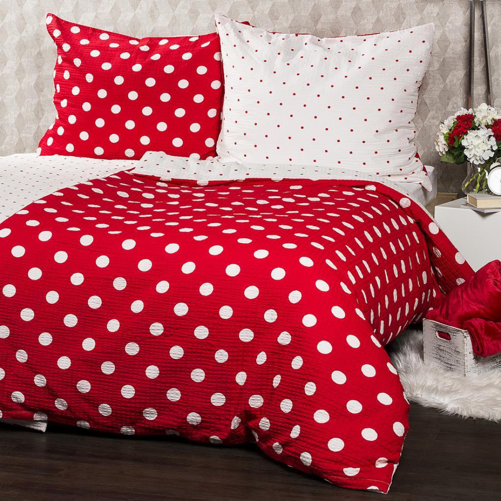 Produktové foto 4Home Krepové povlečení Červený puntík, 160 x 200 cm, 70 x 80 cm