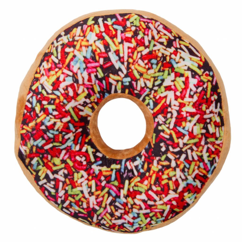 Produktové foto Jahu Tvarovaný polštářek Donut barevná posypka, 38 cm