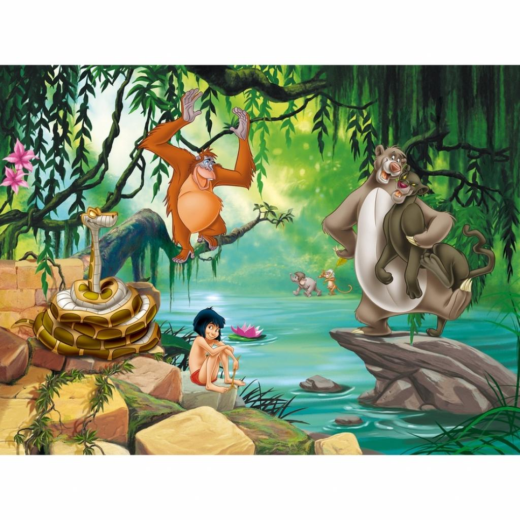 Produktové foto AG Art Dětská fototapeta XXL Kniha džunglí, 360 x 270 cm, 4 díly