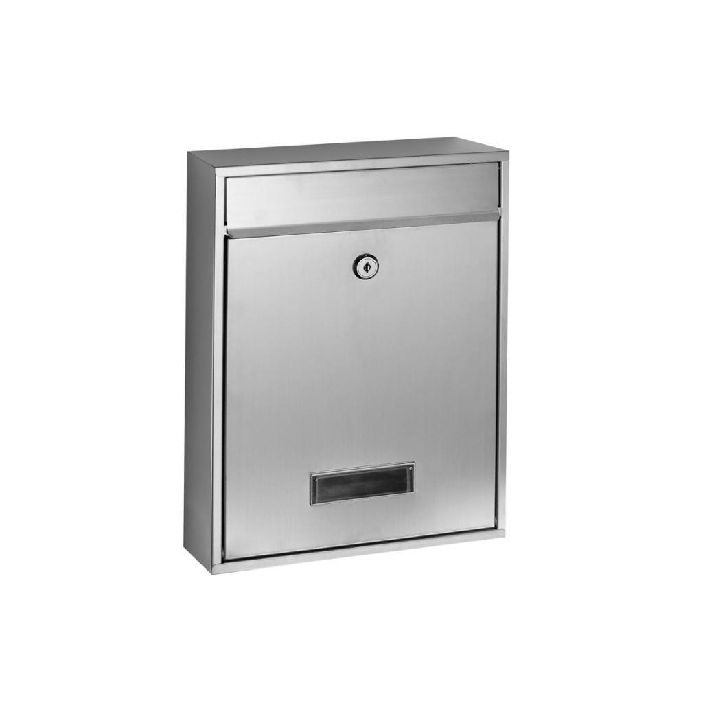 Produktové foto Poštovní schránka RICHTER BK240 (BÍLÁ, STŘÍBRNÁ, HNĚDÁ) - Ocel stříbrná