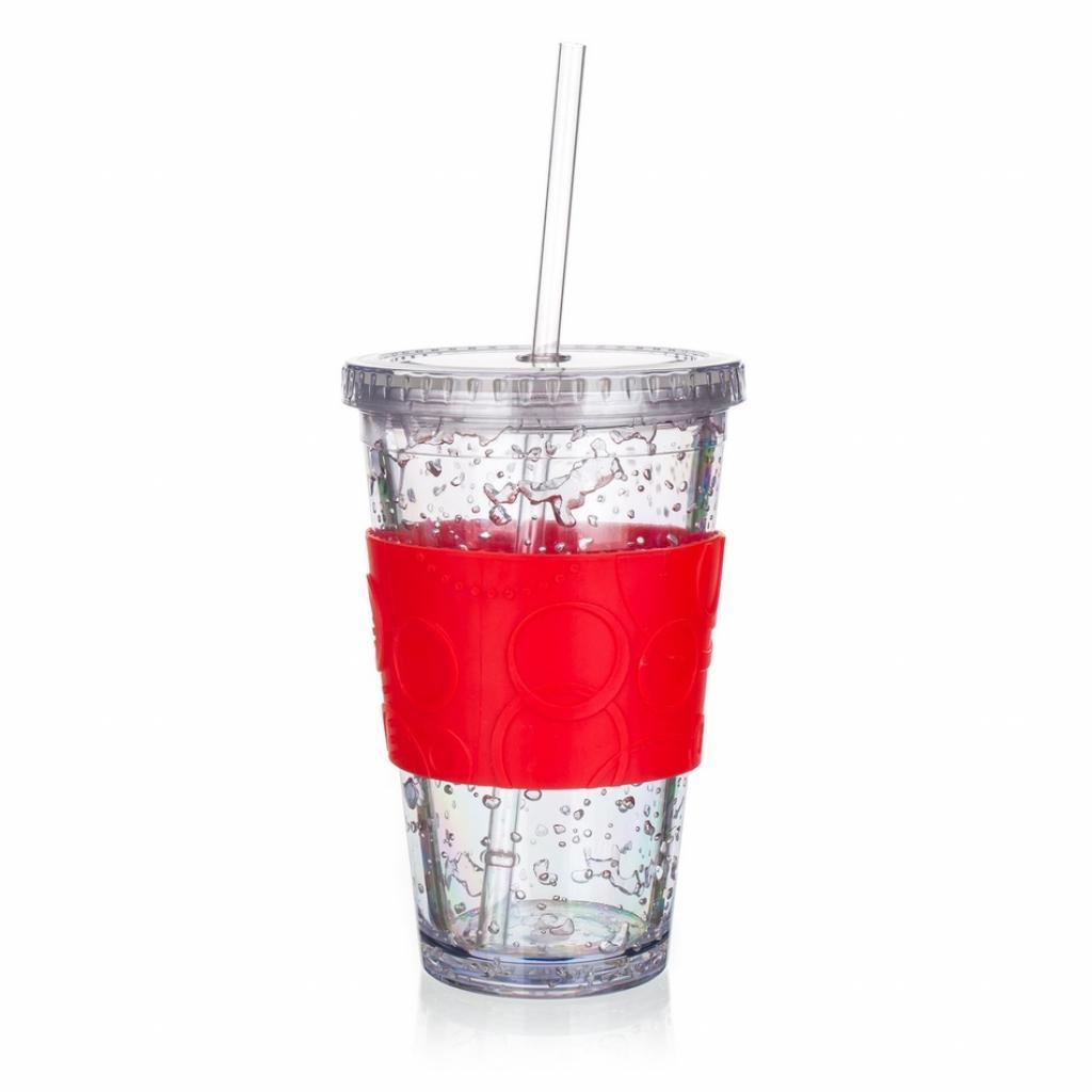 Produktové foto Banquet Kelímek s chladicí vložkou Double 450 ml, červená