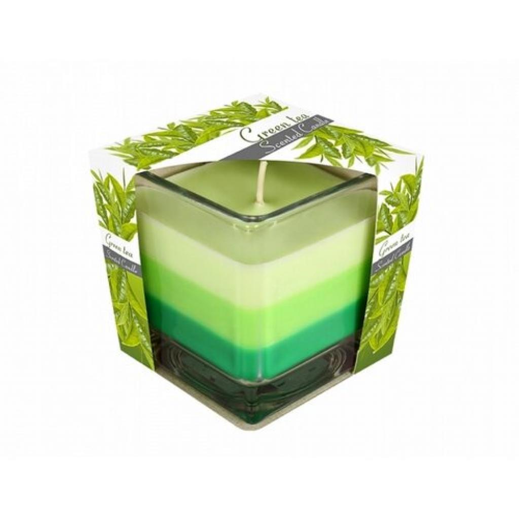 Produktové foto Svíčka ve skle Duha Zelený čaj, 170 g