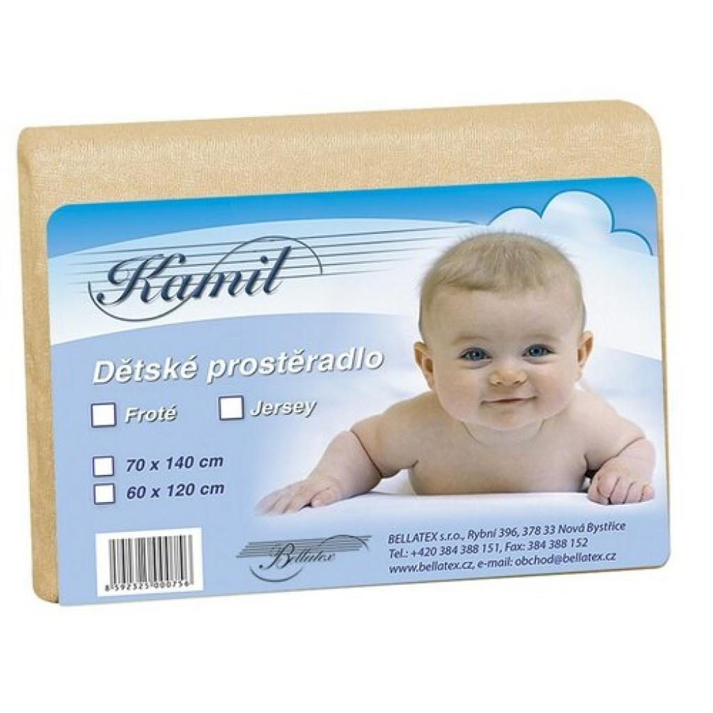 Produktové foto Bellatex Dětské froté prostěradlo, béžová