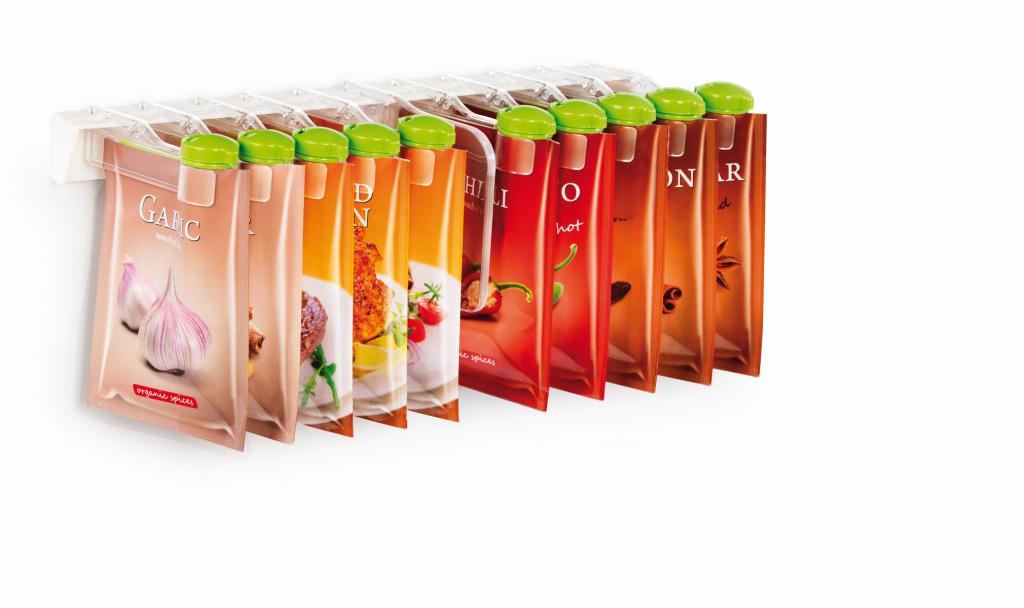 Produktové foto Tescoma Season Násypky pro sáčky s kořením 10 ks na závěsné liště
