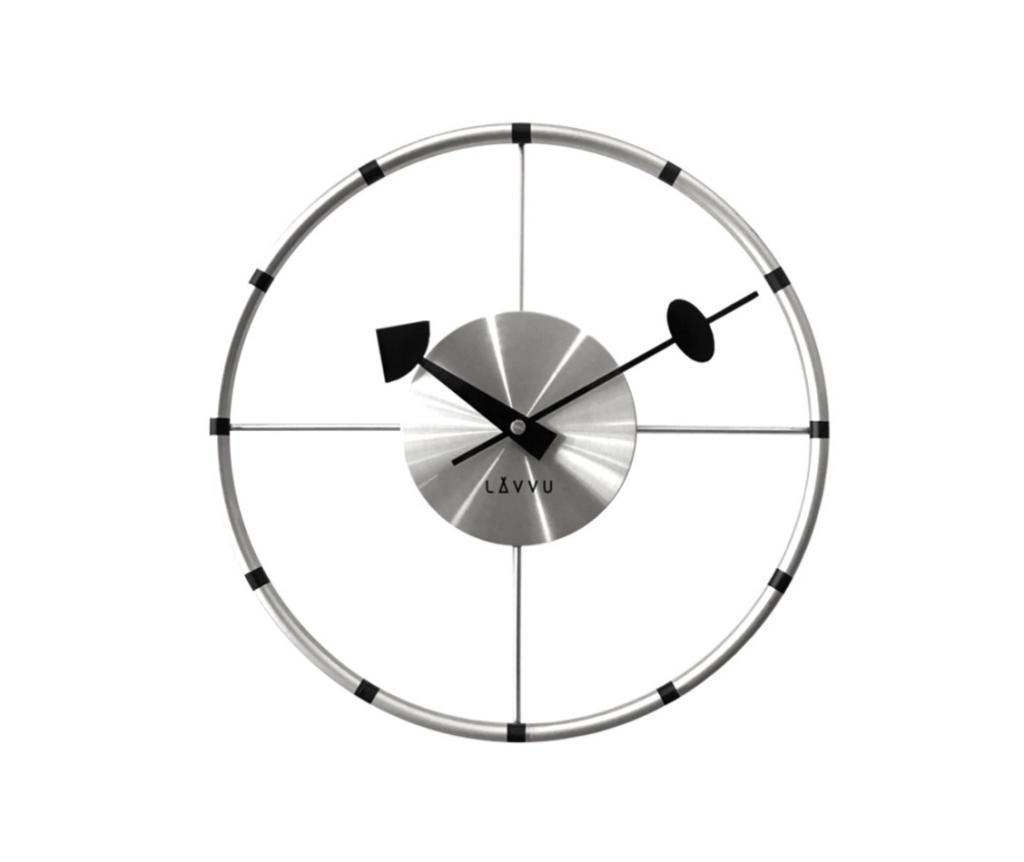 Produktové foto Nástěnné hodiny Lavvu Compass stříbrná, pr. 31 cm