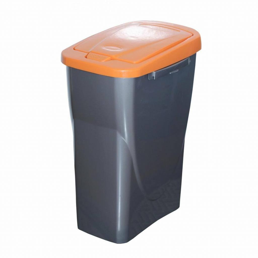 Produktové foto Koš na tříděný odpad oranžové víko; 51 x 21,5 x 36 cm; 25 l; plast