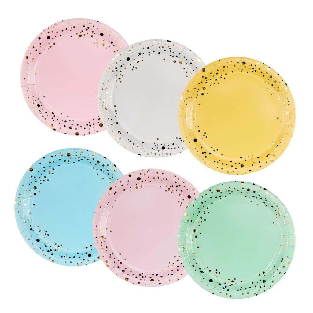 Produktové foto CELEBRATION Papírové talíře konfety 6 ks