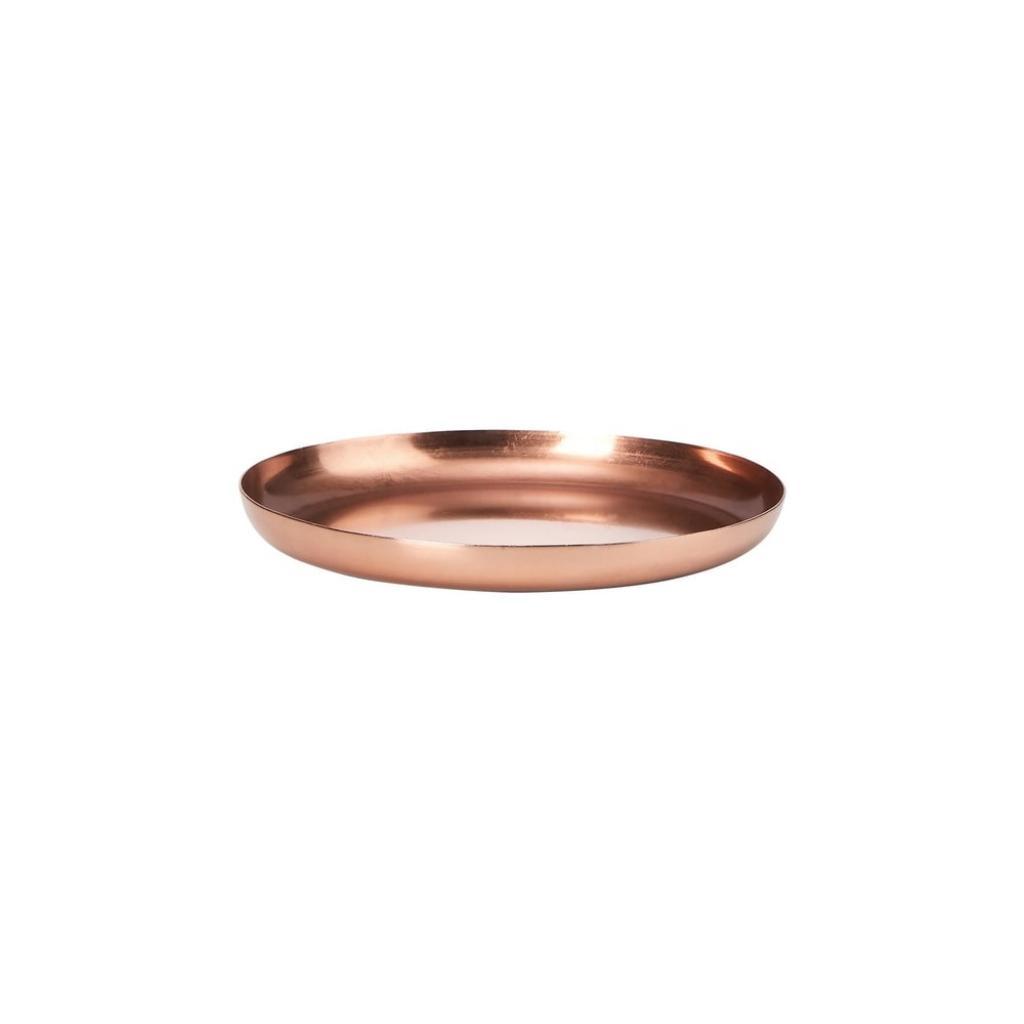 Produktové foto CARAT Podtácek kovový 12 cm - růžová zlatá