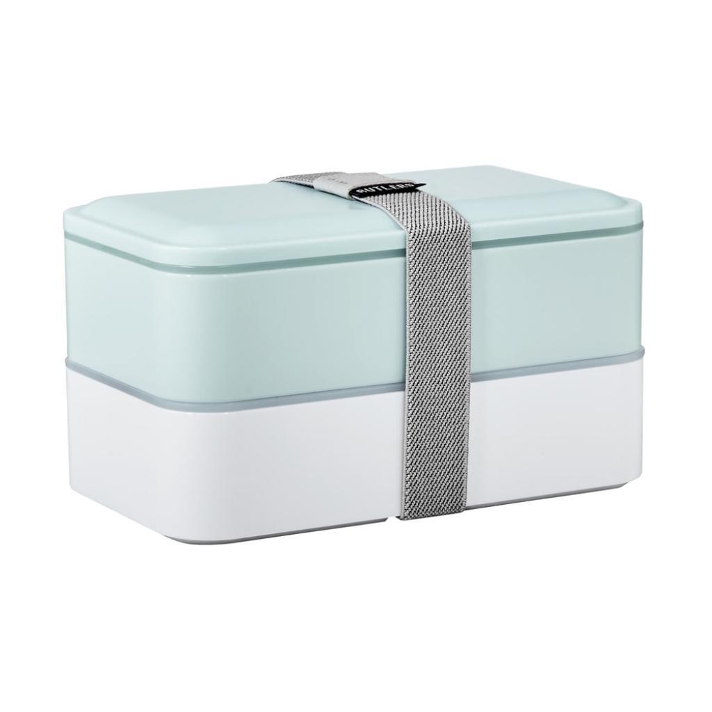 Produktové foto SNACK PACK Svačinový box včetně příboru - sv. modrá/bílá